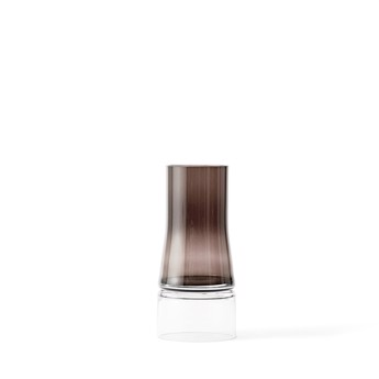Joe Colombo vase 2-in-1 Brown smoke/clear