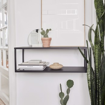 Kristina Dam Grid Wall Shelf Black