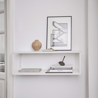 Kristina Dam Grid Wall Shelf White