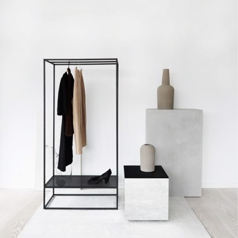 Kristina Dam Grid Coat Stand Black