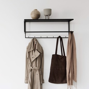 Kristina Dam Grid Coat Hanger Black