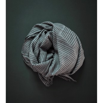 Printed Scarf - Grey
