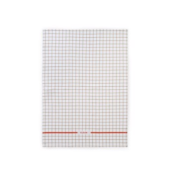 Ren viskestykke Grid sand/spicy orange