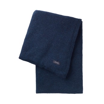 Pique throw blue