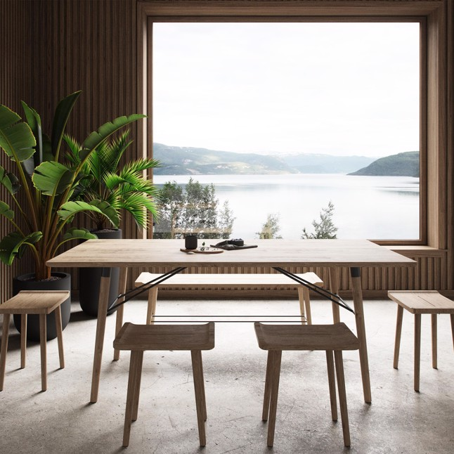 By Wirth Scala Dining Table i massiv eg olieret