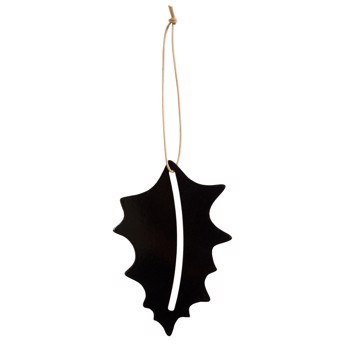By Wirth Chrismas Hang On - Holly i Metal Black