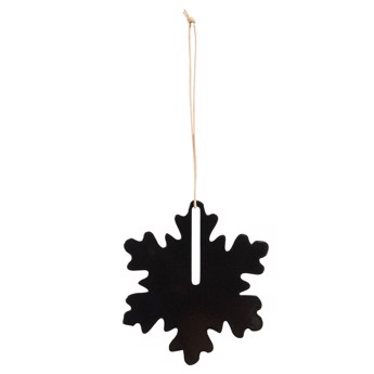 By Wirth Chrismas Hang On - Snefnug i Metal Black