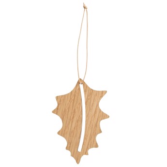 By Wirth Chrismas Hang On - Holly i Nature Oak