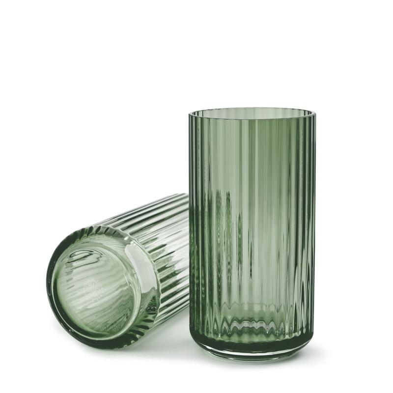 lyngby vase i glas i den nye farve copenhagen green. Black Bedroom Furniture Sets. Home Design Ideas